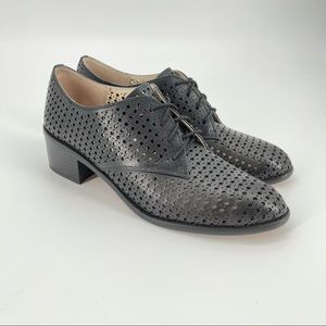 Louise et Cie black perforated Oxford size 9